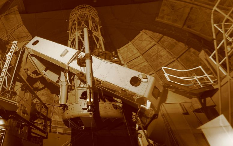100inch Hooker Reflector, photographed in sebia - click on image for high resolution Panorama