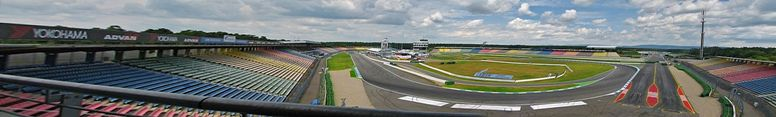 Hockenheim Motodrom on 2008, July 9th - Formula One Aerodynamic Test - click on image for high resolution Panorama