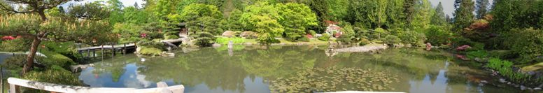the Japanese Garden in Seattle - Washington State - click on image for high resolution Panorama