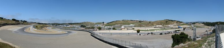 Overview of the MAZDA Raceway in Laguna Seca, California - click on image for high resolution Panorama