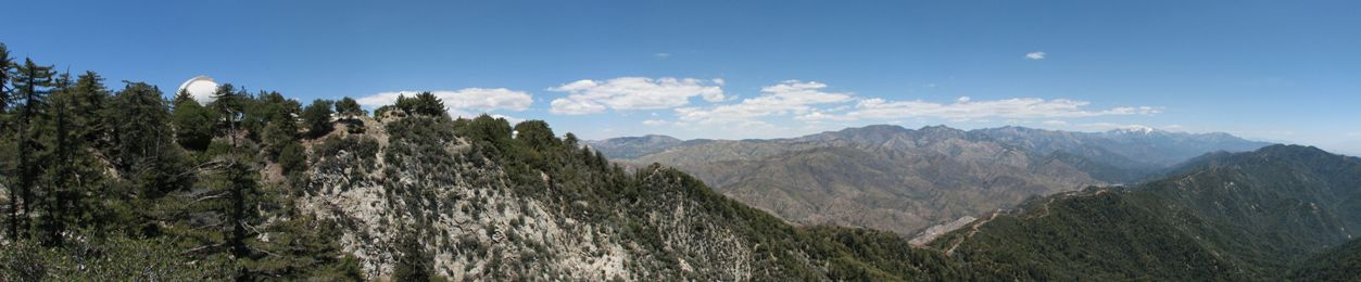 Mt. Wilson Observatory and the San Gabriel Mountain - click on image for high resolution Panorama