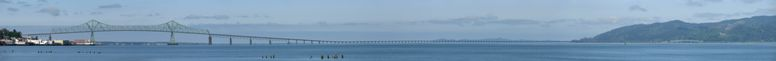 the Astoria Megler Bridge - Oregon, this Image is a Panorama of 15th pictures - click on image for high resolution Panorama