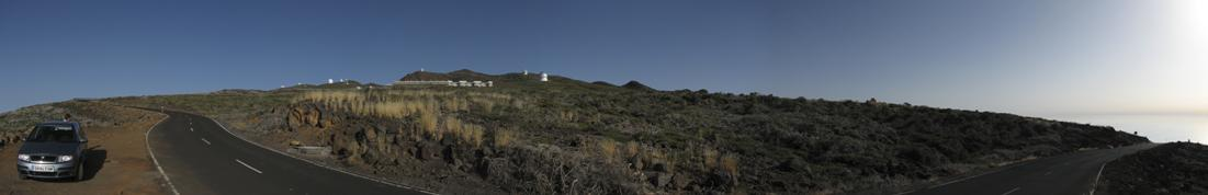 Sunset on Roche de los Muchachos - Overview; please click on image for high resolution Panorama