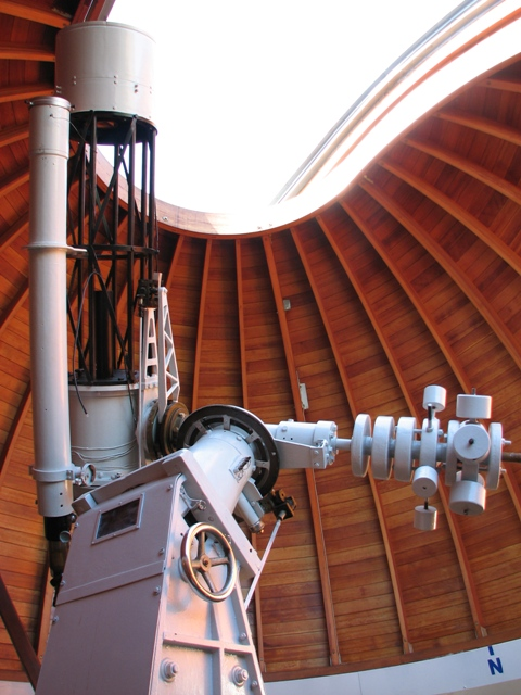 main telescope -  old 12inch cassegrain and the 4inch refractor from carl zeiss jena!