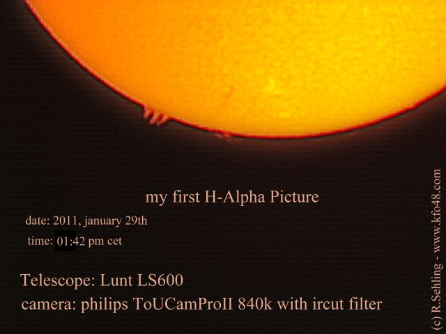 my first record of sun in h-alpha - WOW!!!